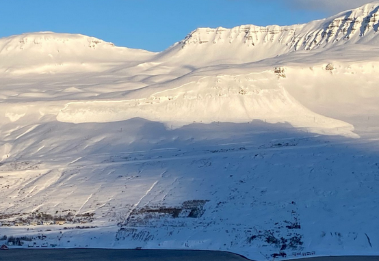 An avalanche in Eastern Iceland